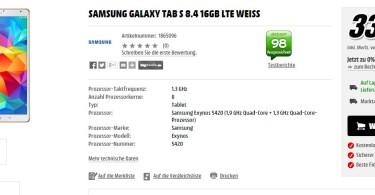 Galaxy-tab-s-schnäppchen