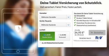 10% Rabatt auf Tablet-Versicherung von Schutzklick bis 31. März