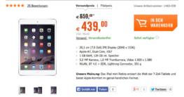 Apple iPad mini 2 Wi-Fi 128 GB für 439 €