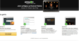 Amazon Instant Video App nun auch für Android-Tablets geeignet