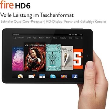 Fire HD 6, 15,2 cm (6 Zoll), HD-Display, WLAN, 8 GB  (Schwarz) - mit Spezialangeboten - 2