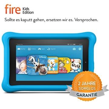 Fire Kids Edition, 17,8 cm (7 Zoll) Display, WLAN, 16 GB, Blau Kindgerechte Schutzhülle - 2